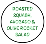 RoastedSquashOliveAvocadoRocketSalad