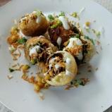 Indian Chaat: Dahi Potato Puri