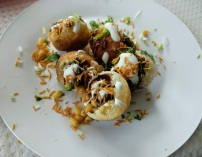 Indian Chaat: Dahi Potato Puri